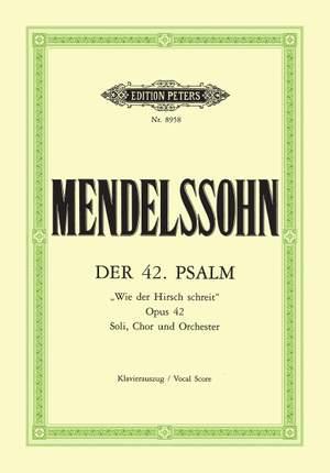 Mendelssohn: Der 42. Psalm Wie der Hirsch schreit op. 42 Product Image