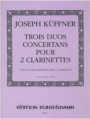 Küffner, Joseph: 3 Duos concertante