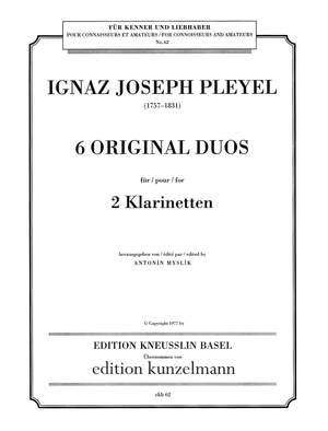 Pleyel, Ignaz Josef: 6 Duos für 2 Klarinetten
