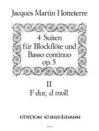 Hotteterre, Jacques Martin  (le Romain): Suite 3 und 4 F-Dur/-Moll op. 5