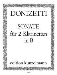 Donizetti, Guiseppe: Sonate für 2 Klarinetten