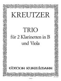 Kreutzer, Conradin: Trio für 2 Klarinetten und Viola