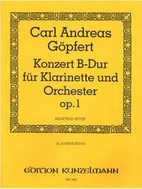 Göpfert, Carl Andreas: Konzert für Klarinette und Orchester B-Dur op. 1