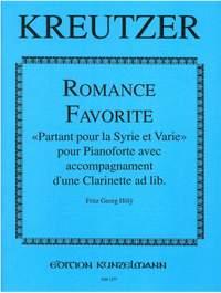 Kreutzer, Conradin: Romance Favoritefür Klavier mit Klarinetten-Begleitung ad lib.