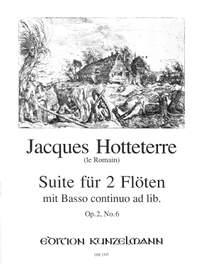 Hotteterre, Jacques Martin  (le Romain): Suite für 2 Flöten  op. 2/6
