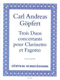 Göpfert, Carl Andreas: 3 Duos concertants für Klarinette und Fagott