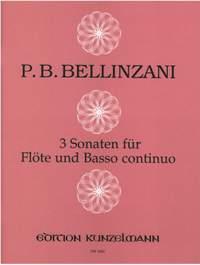 Bellinzani, Paolo Benedetto: 3 Sonaten für Flöte  op. 3