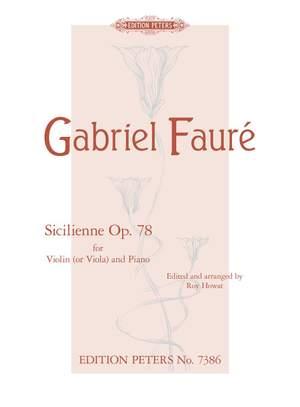 Fauré: Sicilienne Op.78
