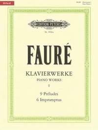 Fauré: Piano Works Vol.1