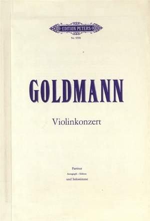 Goldmann, Friedrich: Violin Concerto