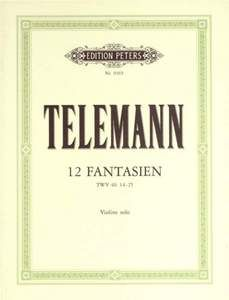 Telemann, G: 12 Fantasias for Violin without Bass