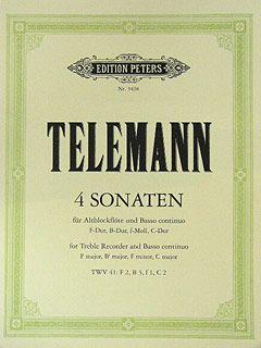 Telemann, G: 4 Sonatas for Recorder & Keyboard