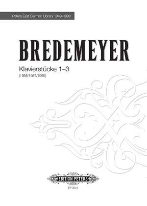 Bredemeyer, Reiner: Klavierstücke 1-3