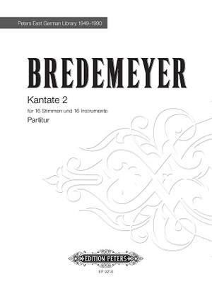 Bredemeyer, Reiner: Kantate 2
