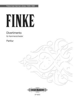 Finke: Divertimento for Chamber Orchestra