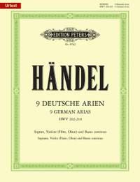 Handel: 9 German Arias HWV 202-210