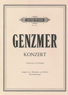 Genzmer, H: Concerto for Two Clarinets and Strings (Piano Reduction)