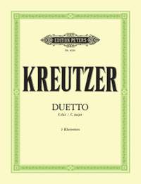 Kreutzer, C: Duet in C for 2 Clarinets