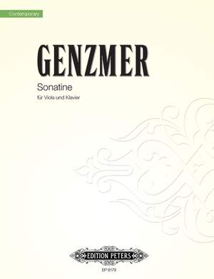Genzmer, H: Sonatina for Viola and Piano