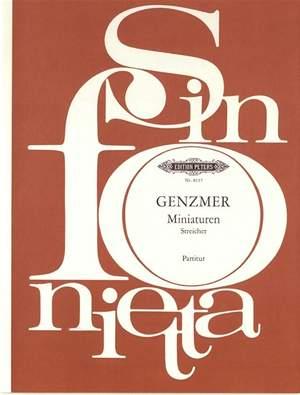 Genzmer, H: Miniatures