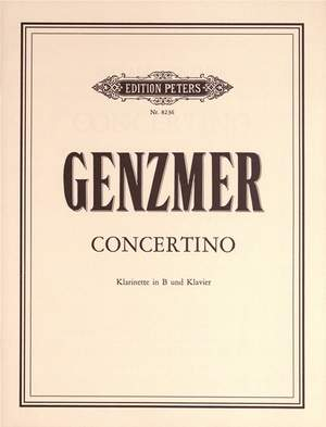 Genzmer, Harald: Concerto for Clarinet and Piano