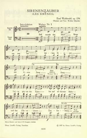 Waldteufel, Emil: Sirenenzauber (Les Sirènes) op. 154