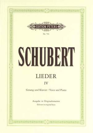 Schubert: Songs Vol.4