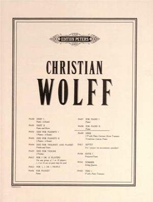 Wolff, C: For Piano II