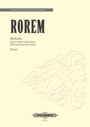 Rorem, N: Sinfonia for 15 Wind Instruments