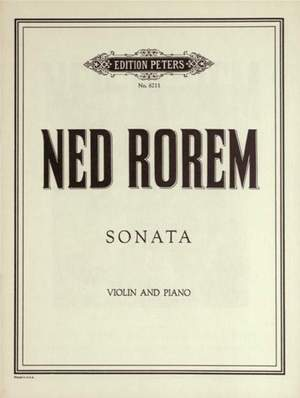 Rorem, N: Sonata for Violin and Piano
