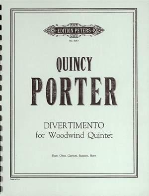Porter, Quincy: Divertimento for Woodwind Quintet