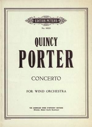Porter, Q: Concerto for Wind Orchestra