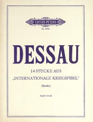 "Dessau, Paul: 14 Stücke aus ""Internationale Kriegsfibel"""