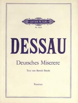 Dessau, Paul: Deutsches Miserere (1947)