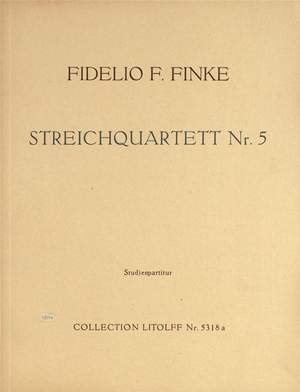Finke: String Quartet No. 5