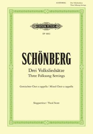 Schoenberg, A: 3 Folksong Settings