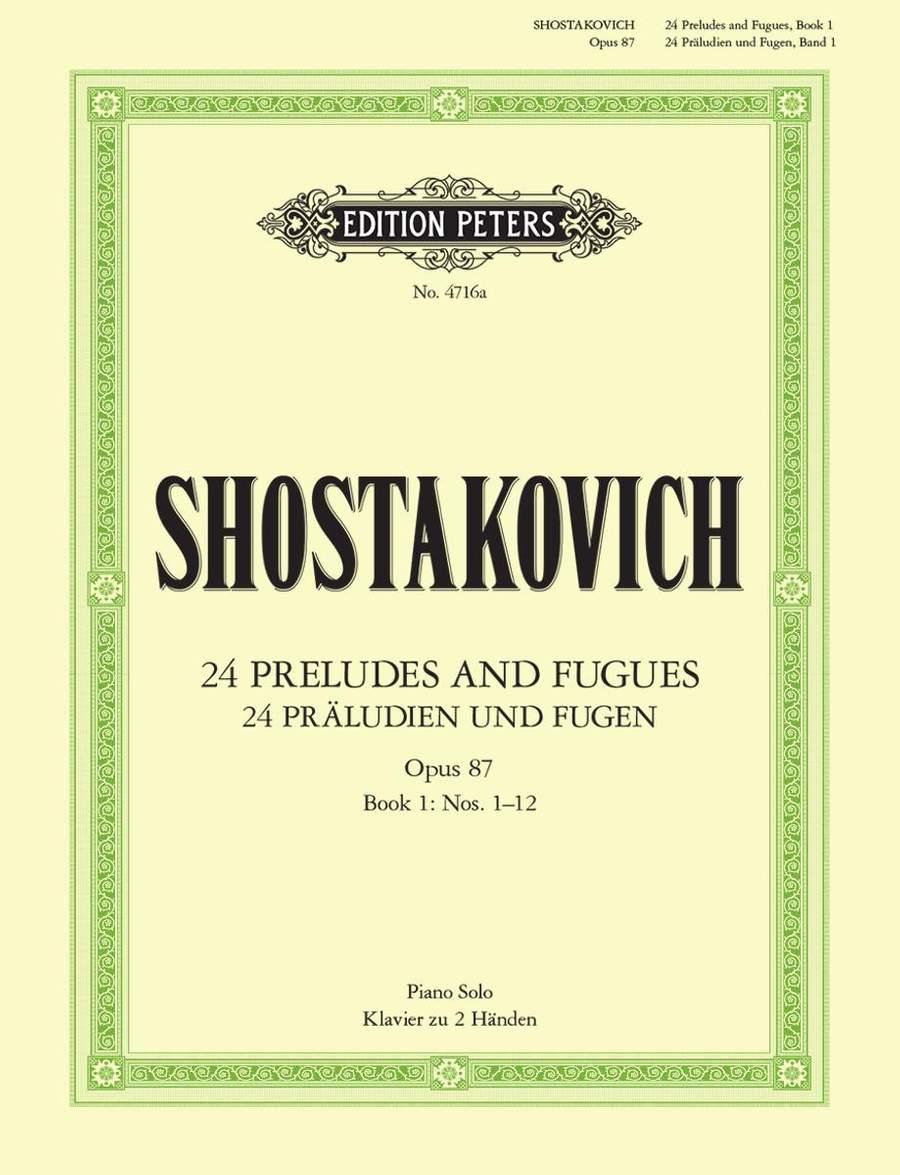 24 Op87 Vol 1* SHOSTAKOVICH PRELUDES /& FUGUES