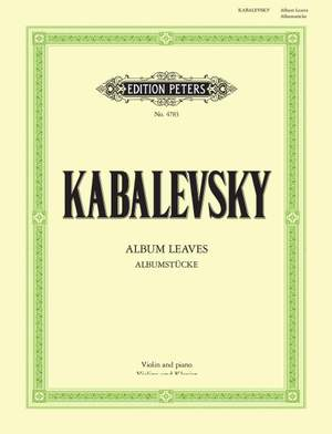 Kabalevsky, D: Album Leaves