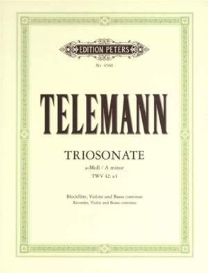 Telemann, G: Trio Sonata in A minor from 'Essercizii Musici'