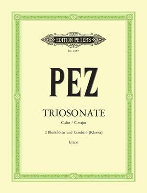 Pez, J: Trio Sonata in C