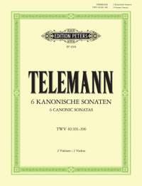 Telemann, G: 6 Sonatas in canon form