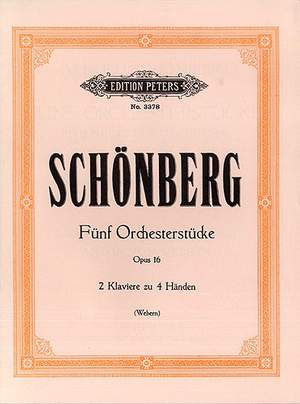 Schoenberg, A: 5 Orchestral Pieces Op.16