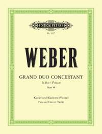 Weber, C: Grand Duo Concertant in E flat Op.48