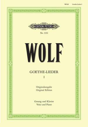 Wolf, H: Goethe-Lieder: 51 Songs Vol.1