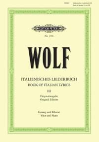 Wolf: Italienisches Liederbuch: 46 Songs Vol.3