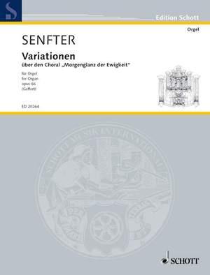 Senfter, J: Variations about Morgenglanz der Ewigkeit op. 66
