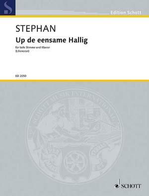Stephan, R: Up de eensome Hallig