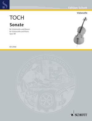 Toch, E: Sonata op. 50