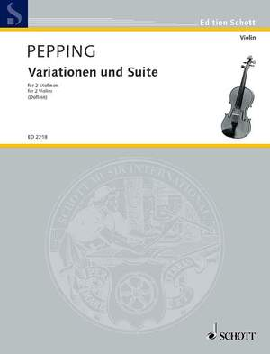 Pepping, E: Variations and Suite