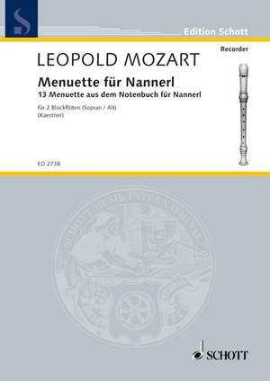 Mozart, L: Minuets for Nannerl